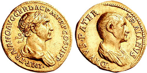 Roman coin - Trajanus - Gold Aureus